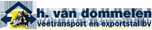 H. Van Dommelen Vee transport en exportstal bv Logo